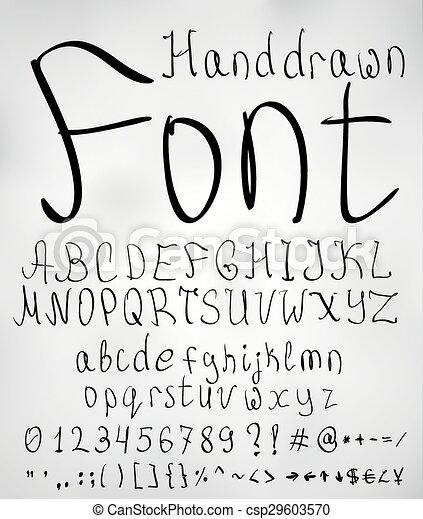 Pencil font csp29603570