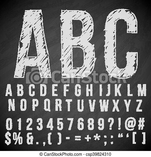 pencil font - csp39824310