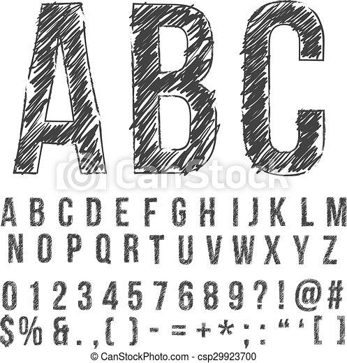 Pencil font csp29923700