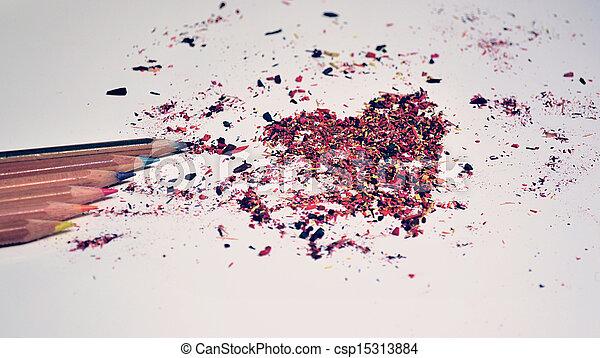 pencil heart - csp15313884