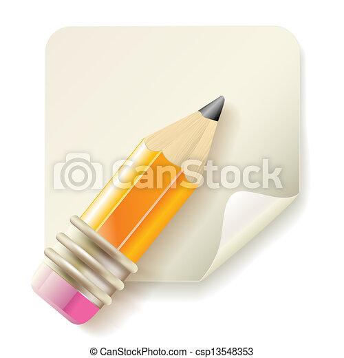 pencil icon - csp13548353