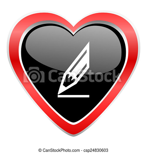 pencil icon draw sign - csp24830603