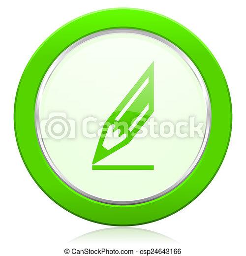 pencil icon draw sign - csp24643166