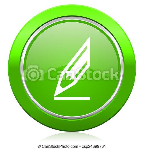 pencil icon draw sign - csp24699761