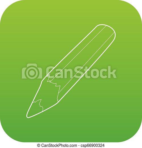 Pencil icon green vector - csp66900324