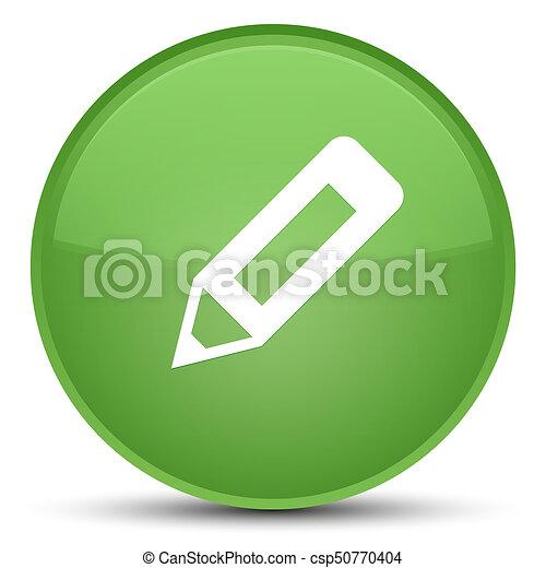 Pencil icon special soft green round button - csp50770404