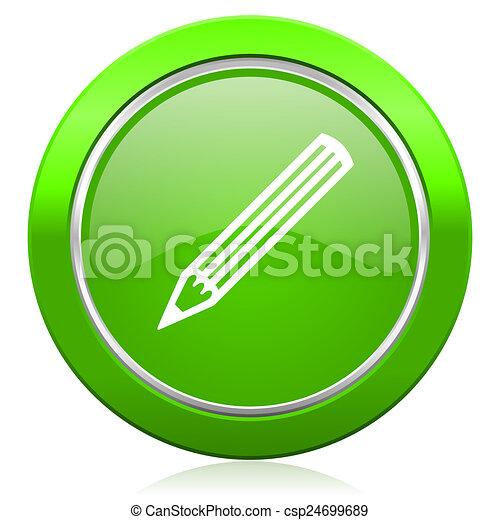 pencil icon - csp24699689