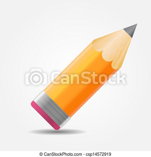 Pencil icon vector illustration - csp14572919