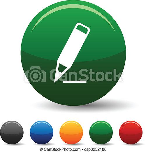 Pencil icons. - csp8252188