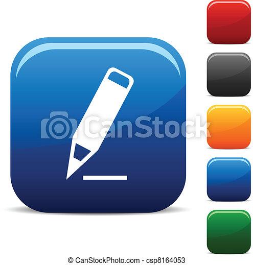 Pencil icons. - csp8164053