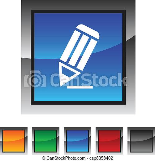 Pencil icons. - csp8358402