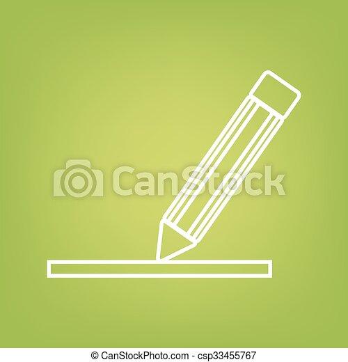 Pencil line icon - csp33455767