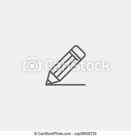 pencil outline icon - csp39558733
