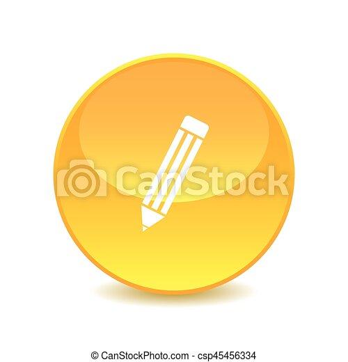 pencil , pencil icon Vector on the background , vector - csp45456334