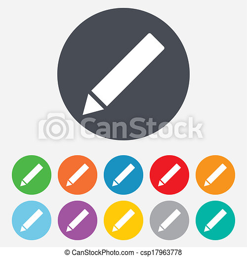 Pencil sign icon. Edit content button. - csp17963778