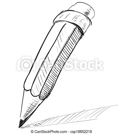 Pencil sketch cartoon vector illustration - csp18852218