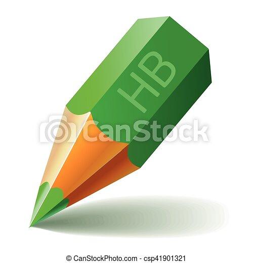 Pencil Vector Icon Green - csp41901321