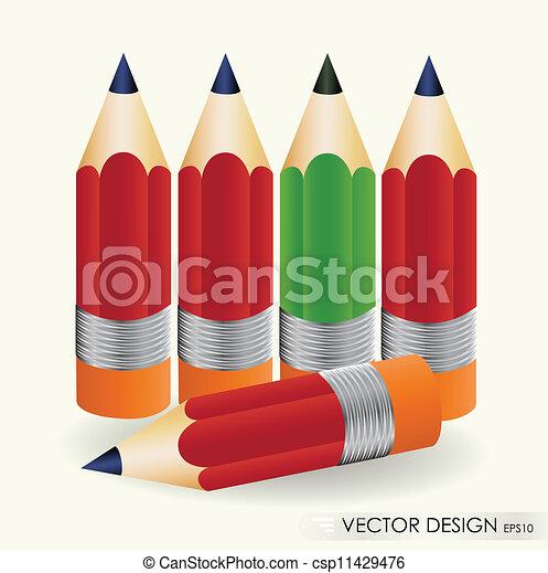 Pencil vector illustration set. Eps 10. - csp11429476