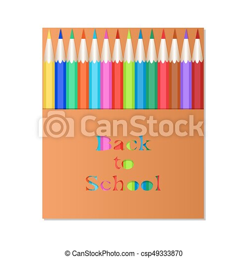 school text box clipart. vector pencil3box of colored pencils the carved inscription back to school packaging design text box clipart
