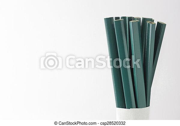 Pencils carpenter and mason - csp28520332