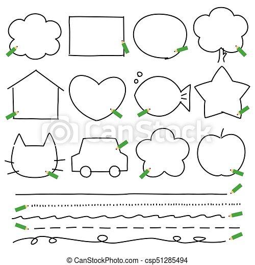 Pencils frames copyspace. Pencils frames, shapes, copyspace... eps ...