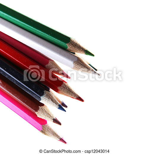 pencils isolated on white background - csp12043014