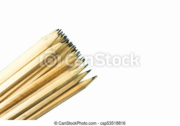 Pencils isolated on white background. - csp53518816