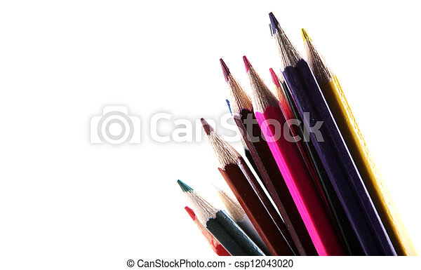 pencils isolated on white background - csp12043020