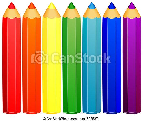 pencils., sfondo colorato - csp15375371