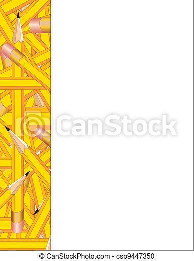 Pencils Side Frame - csp9447350