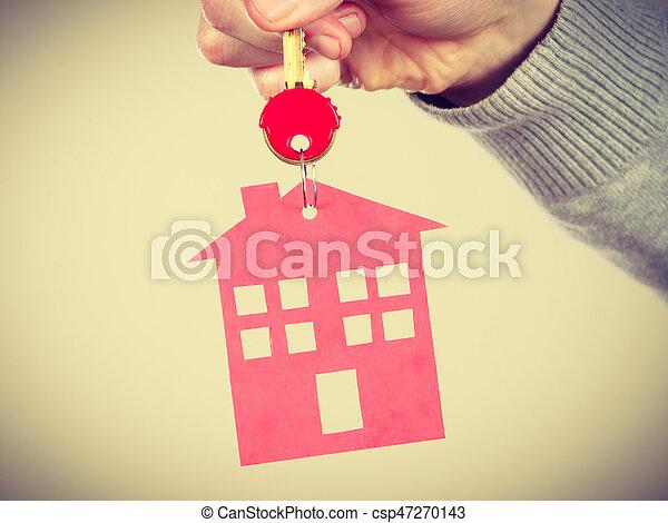 pendant., σπίτι , δακτυλίδι , κλειδί  - csp47270143