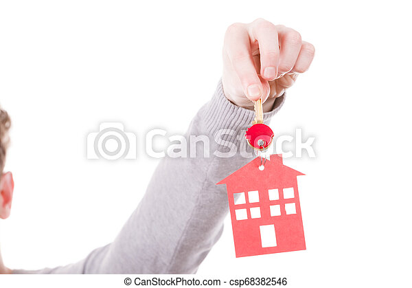 pendant., σπίτι , δακτυλίδι , κλειδί  - csp68382546