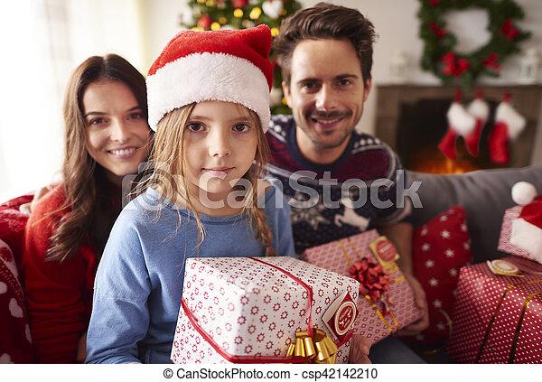 pendant, noël, temps famille - csp42142210