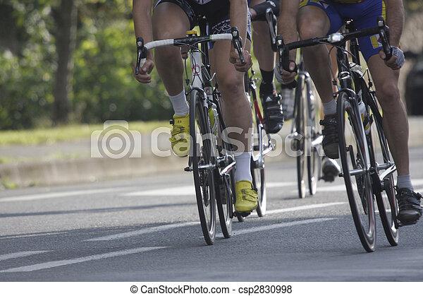 pendant, roues, course, cyclisme - csp2830998
