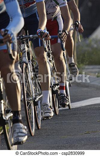 pendant, roues, course, cyclisme - csp2830999
