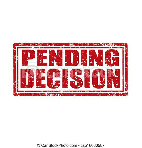 Esperando el sello de decisión - csp16080587