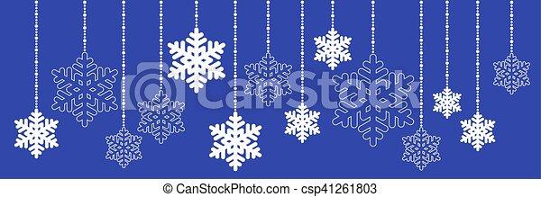 pendre, flocon de neige, noël - csp41261803