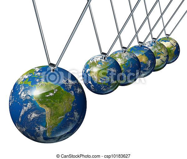 Pendulum with South America - csp10183627