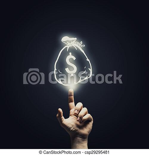 pengar, begrepp - csp29295481