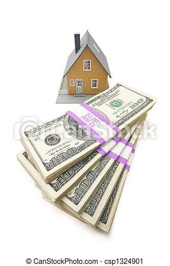pengar, buntar, isolerat, hem - csp1324901