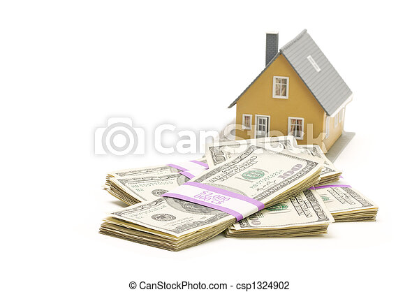 pengar, buntar, isolerat, hem - csp1324902