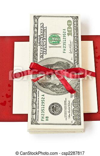 pengar, gåva - csp2287817