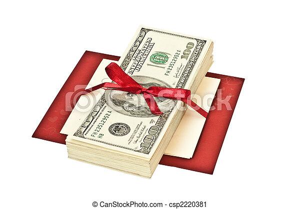 pengar, gåva bocka - csp2220381