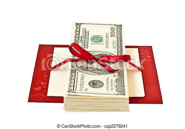 pengar, gåva bocka - csp2279241