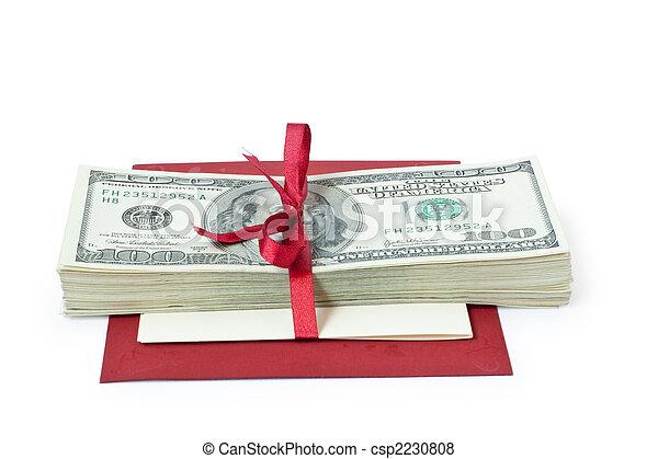 pengar, gåva bocka - csp2230808