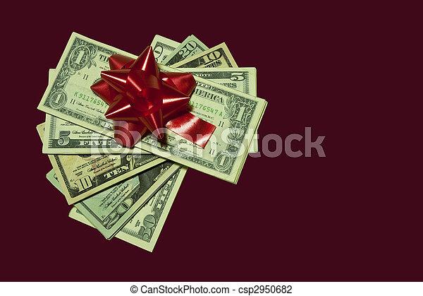 pengar, gåva - csp2950682
