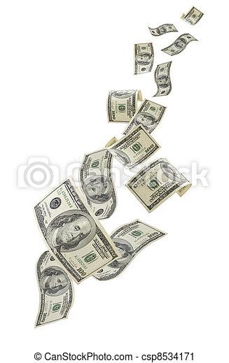 pengar, stjärnfall, oss - csp8534171