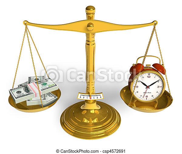 pengar, tid - csp4572691