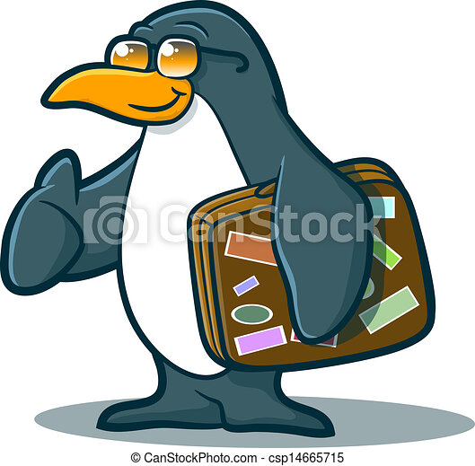 penguin character traveling illustration of a cute penguin rh canstockphoto com travel clipart free travel clip art images