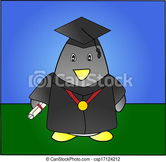 Penguin Graduation - csp17124212